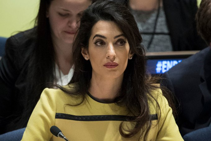Amal Clooney Addresses UN High Level Event On Bringing ISIL To Justice