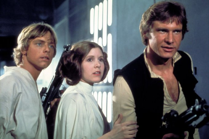 star wars leia luke han solo