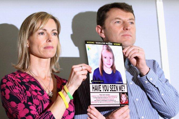 Kate e Gerry, pais de Madeleine, seguem na esperança de encontrar a filha