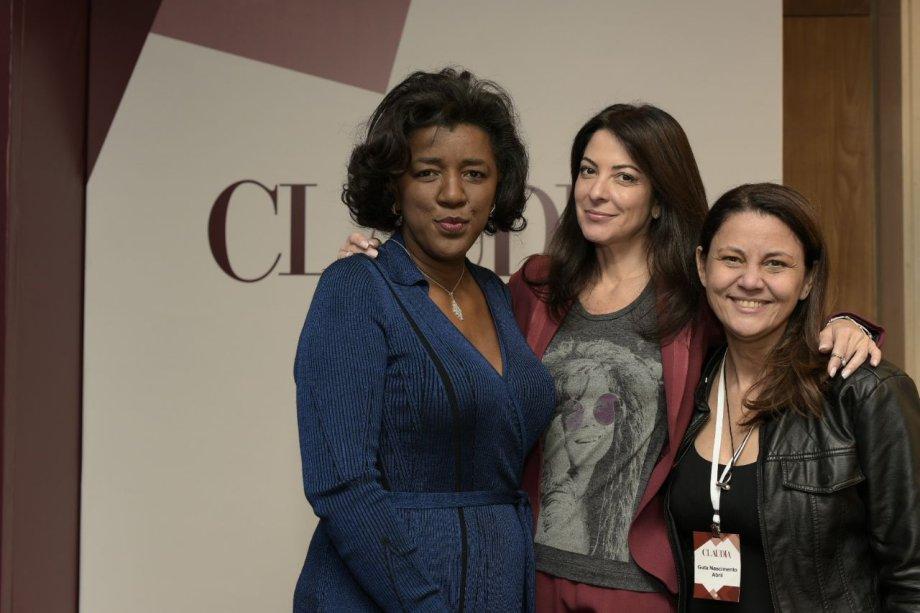 As diretoras de redação de CLAUDIA Ana Paula Padrão e Guta Nascimento recebem a CEO da Pandora no Brasil, Rachel Maia