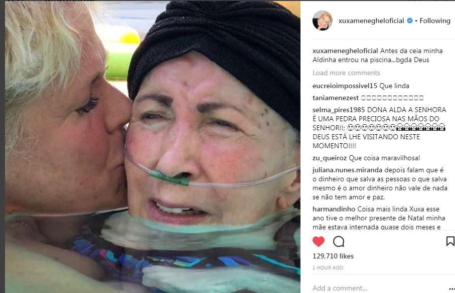 Xuxa com a mãe, Alda