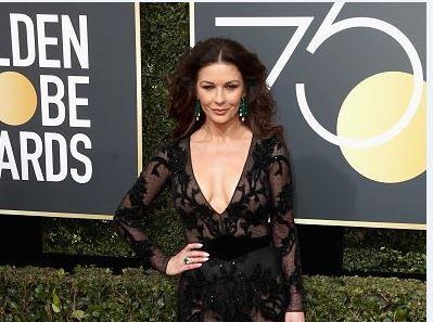 Catherine Zeta-Jones no Globo de Ouro