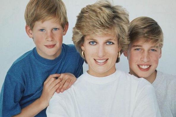 princesa diana e seus filhos