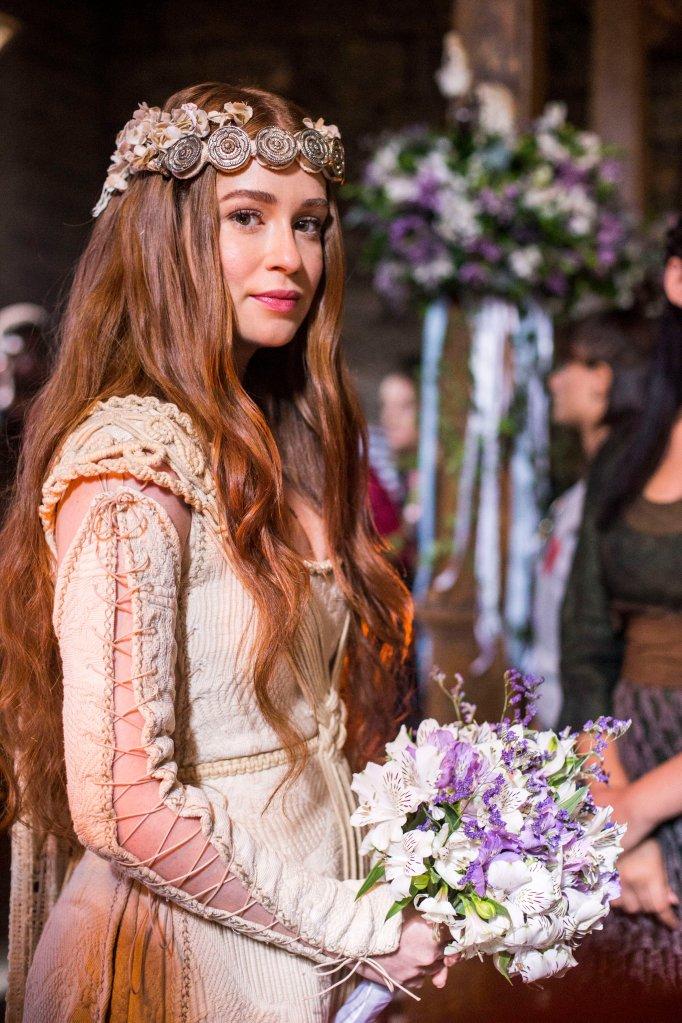 casamento -  Amália (Marina Ruy Barbosa) e Afonso (Romulo Estrela) no casamento