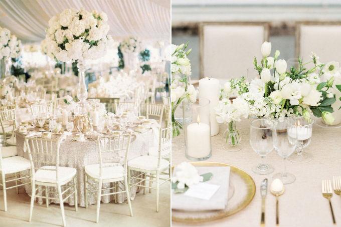 Casamento com decoração toda branca