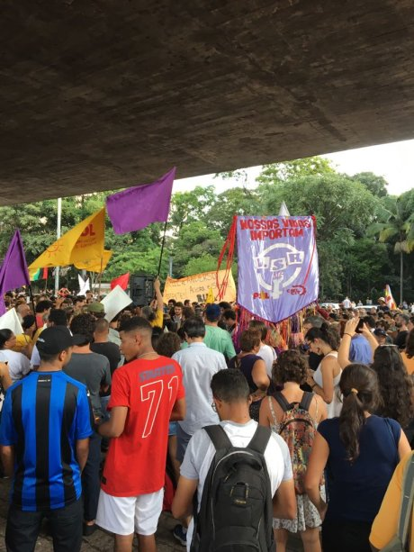 Protesto contra a morte de Marielle Franco e Anderson Gomes, assassinados no Rio