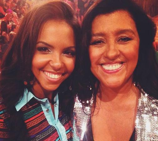 Nathalia Santos e Regina Casé
