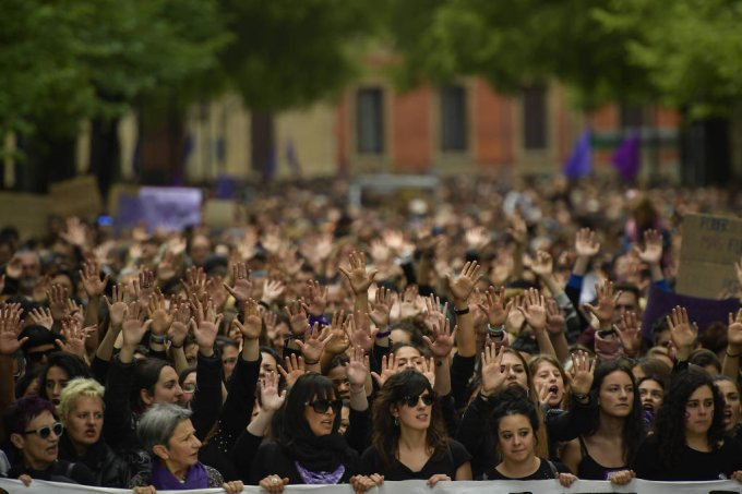 espanha protesto estupro