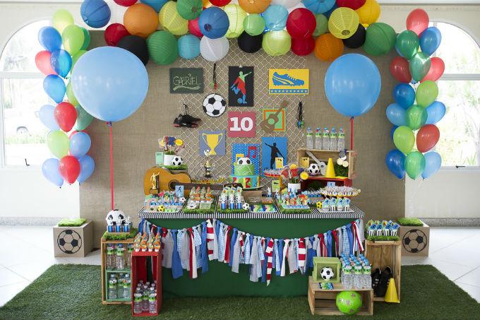 Festa infantil com tema futebol
