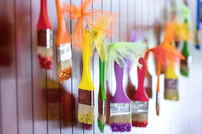 Festa infantil com tema cores