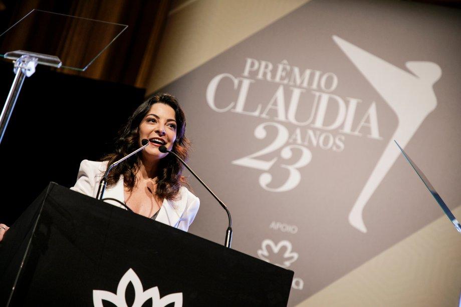A jornalista Ana Paula Padrão foi responsável por conduzir a celebração do Prêmio CLAUDIA 2018 na Sala São Paulo, em São Paulo, nesta segunda-feira<span>(</span>22)