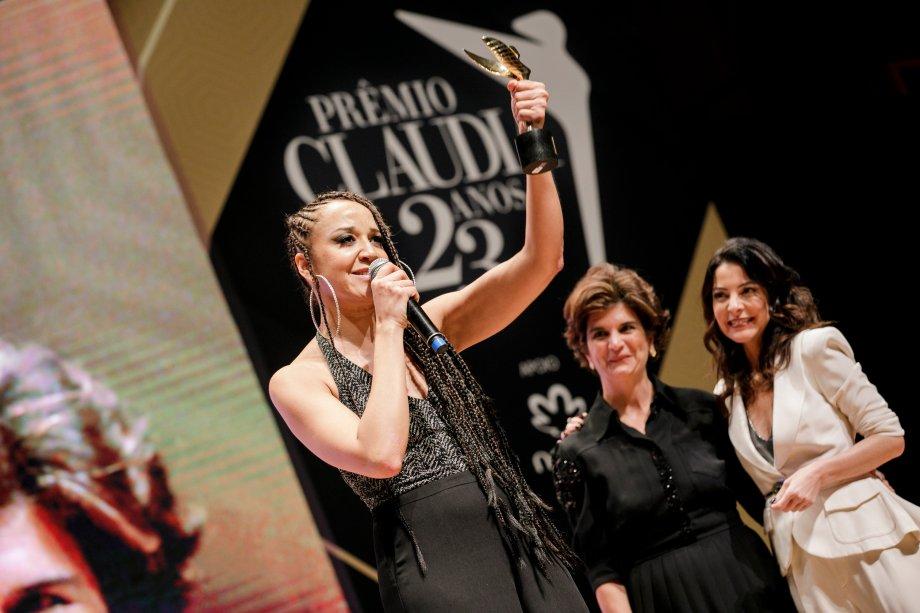 A atriz-MC Roberta Estrela D'Alva, que criou o primeiro slam brasileiro, foi a vencedora da categoria Cultura.