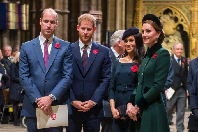 Família real – kate middleton-meghan markle-harry-william