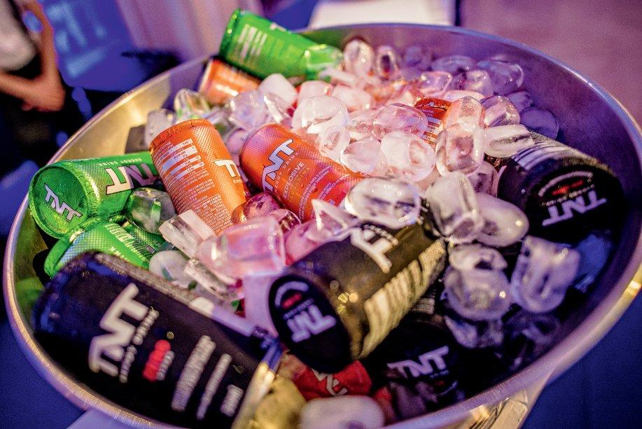 Convidados puderam desfrutar de energéticos da TNT