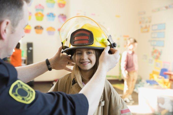 bombeira criança