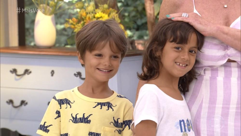 Ana Maria Braga recebe netos no 'Mais Você' em momento ...
