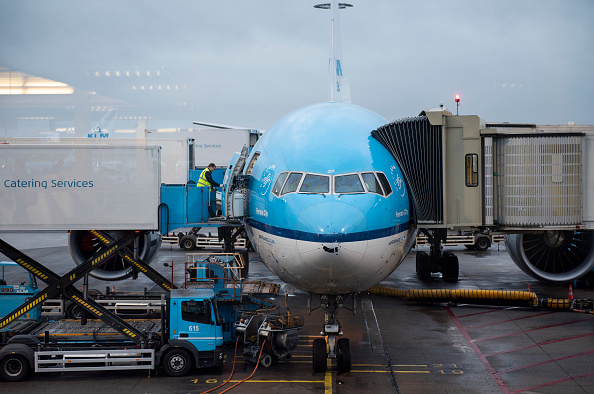 KLM Royal Dutch Airlines plane is seen at Amsterdam Schiphol