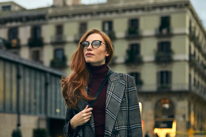 look outono xadrez moda