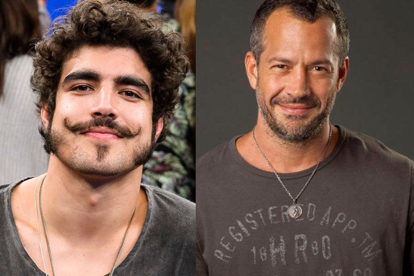 Os atores Caio Castro e Malvino Salvador