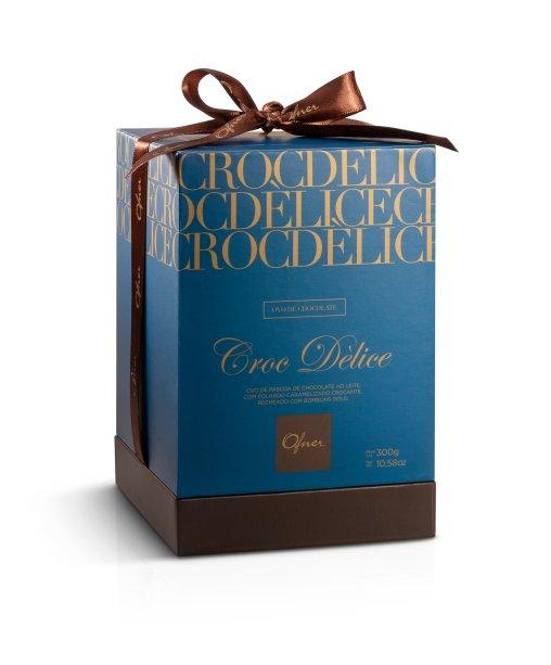 Ofner: Ovo Croc Dèlice (300g). Com casca recheada com crocante francês, caramelizado e bombons. Preço: 89,90.