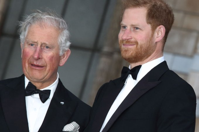 HRH Prince Harry with HRH Prince Charles at the World