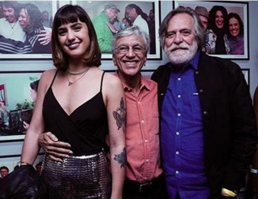 Carol Junger, Caetano Veloso e José de Abreu