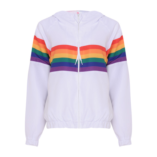 Jaqueta Corta Vento feminina Pride Arco-Íris, Adidas - R$ 159,99