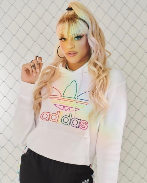 Blusa com capuz Pride Trefoil Outilne, Adidas - R$299,99