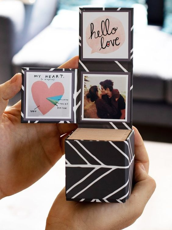 Caixa de fotos de casal