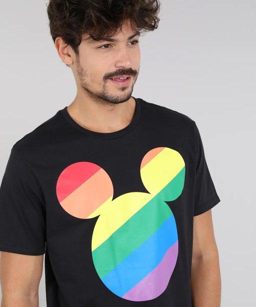 Camiseta Pride Mickey, C&A - R$ 39,99