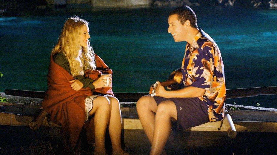 """<strong>Como Se Fosse a Primeira Vez (estreia em 31/07): <span style=""""font-weight:400;"""">Um veterinário marinho se apaixona por uma professora que sofre de amnésia e precisa reconquistá-la todos os dias. Com Adam Sandler e Drew Barrymore.</span></strong>"""