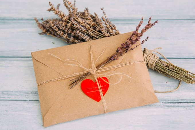 Envelope com coração – dia dos namorados