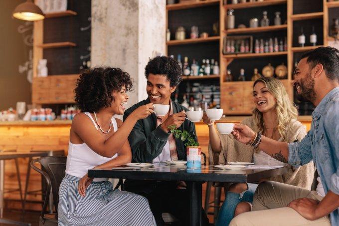 café com amigos