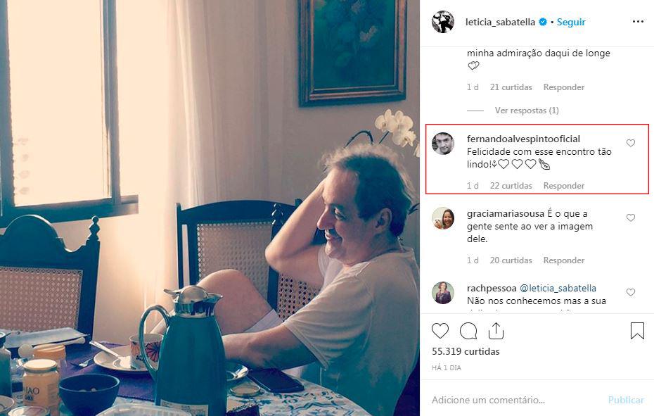 Ex de Letícia Sabatella comenta em declaração da atriz para novo namorado