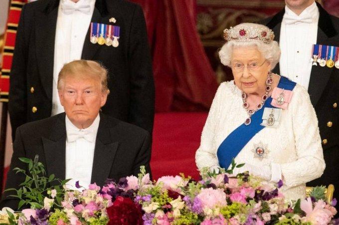 rainha e trump