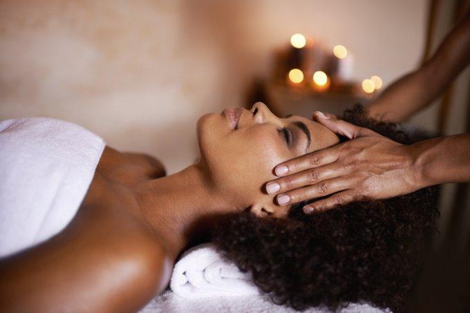 Massagem em spa