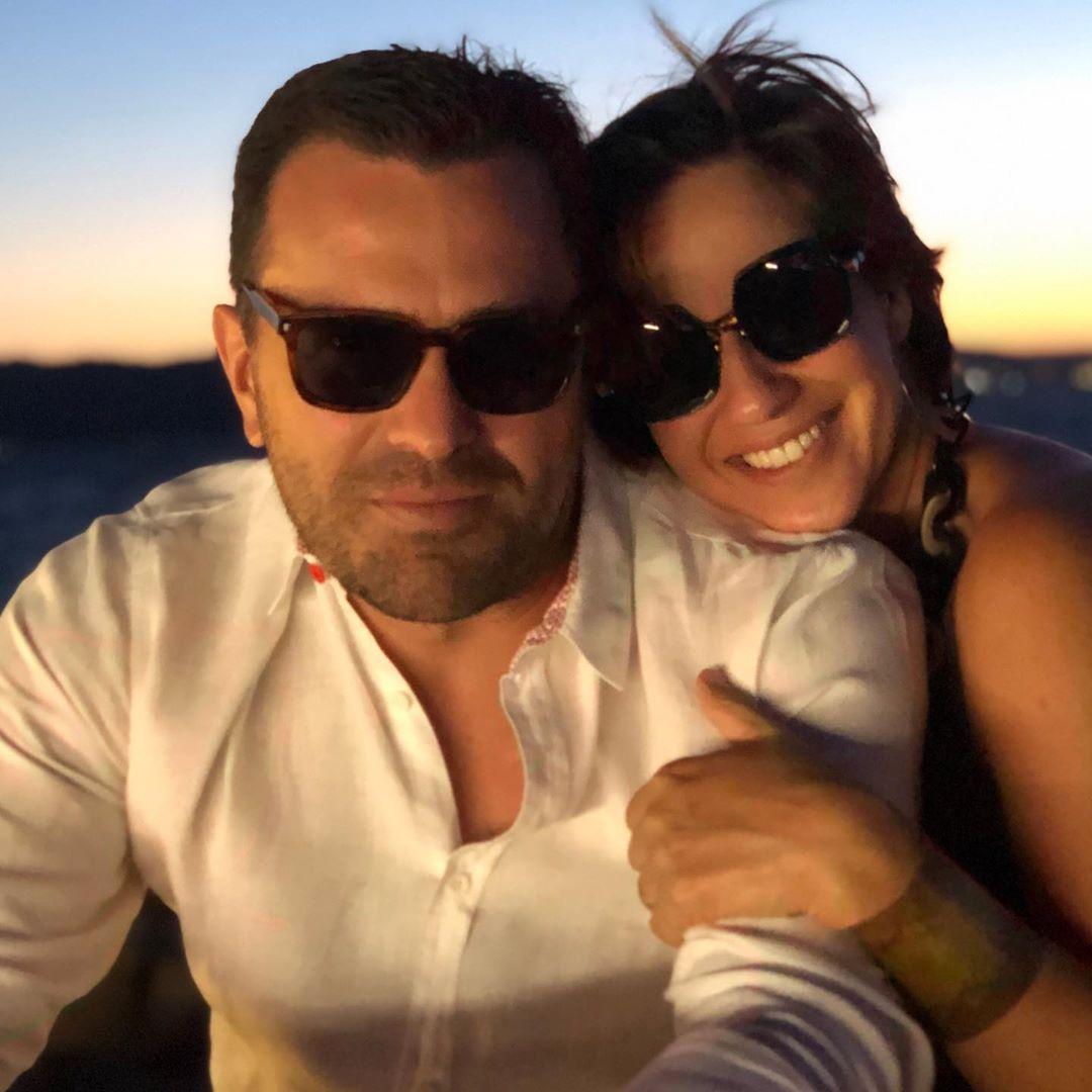 Rodrigo Bocardi com a esposa Claudia