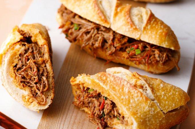 Receita sanduíche de carne louca