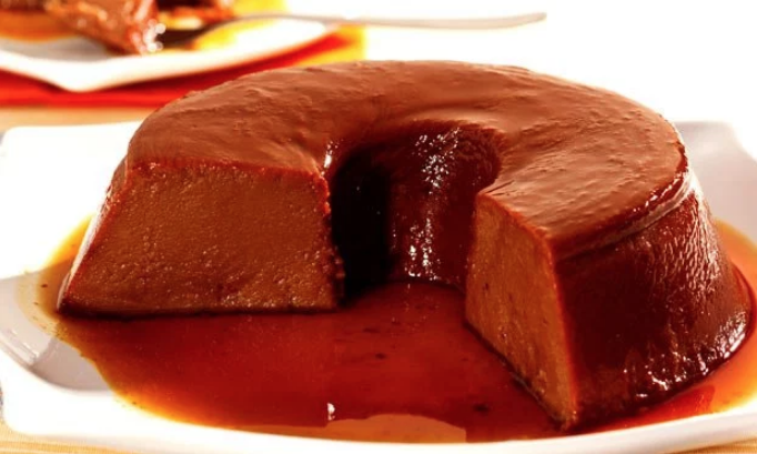 Pudim de chocolate cremoso