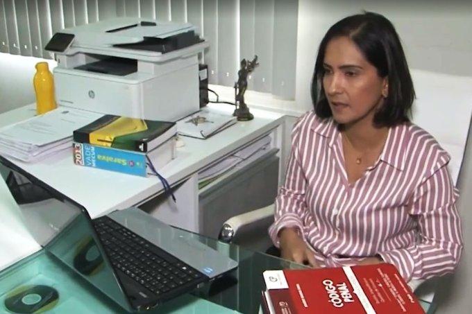advogada condena assassino do pai Reprodução-TV São Francisco
