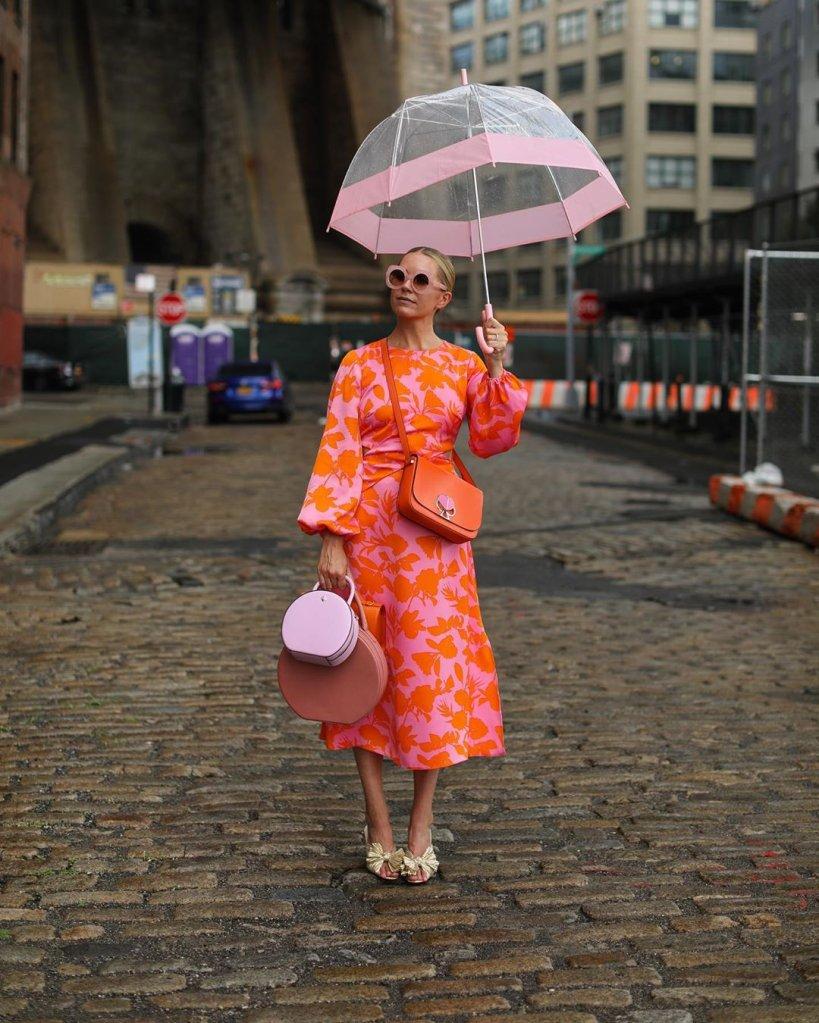 Look rosa e laranja
