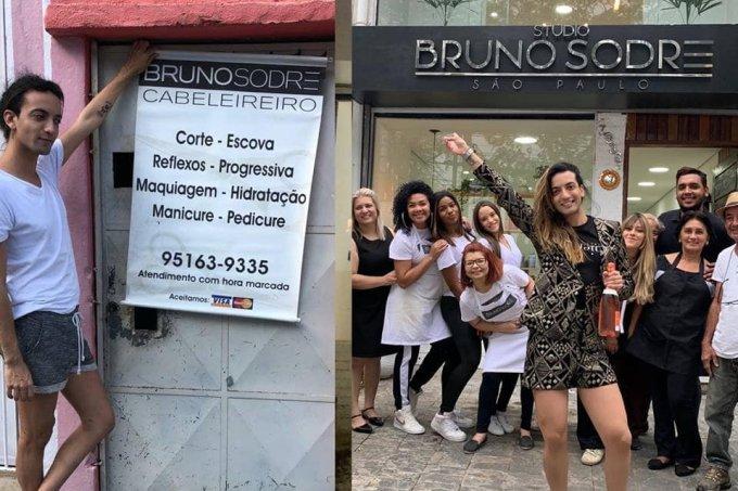 Bruno Sodré antes e depois