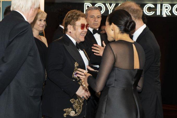 Elton John, Meghan Markle e príncipe Harry