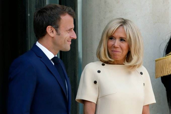 Emmanuel Macron e Brigitte Macron
