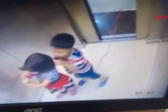 Menina-salva-irmao-de-5-anos-de-ser-enforcado-em-elevador