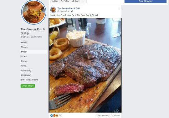 Publicação do Facebook