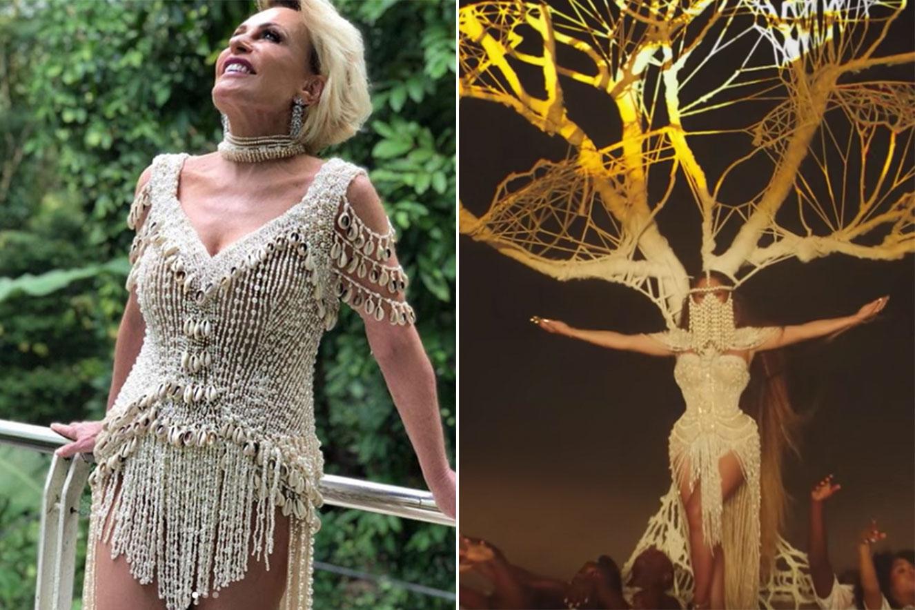 Ana Maria Braga usa réplica de vestido de Beyoncé