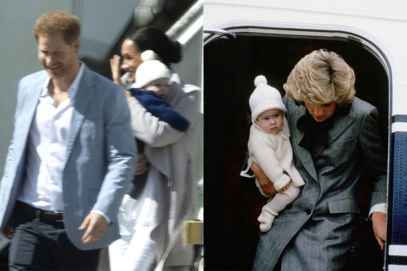 Archie pode ter usado o mesmo gorrinho que Harry usou quando era bebê