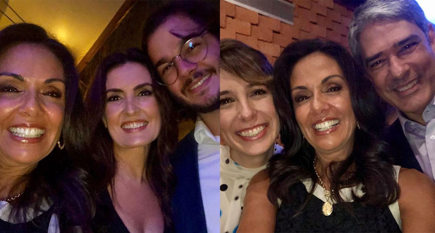 Cristina Ranzolin tirou fotos com os dois casais