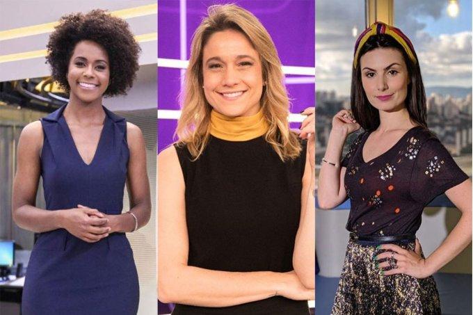 Maju Coutinho, Fernanda Gentil e Nathalia Arcuri fazem estreias na TV nesta segunda